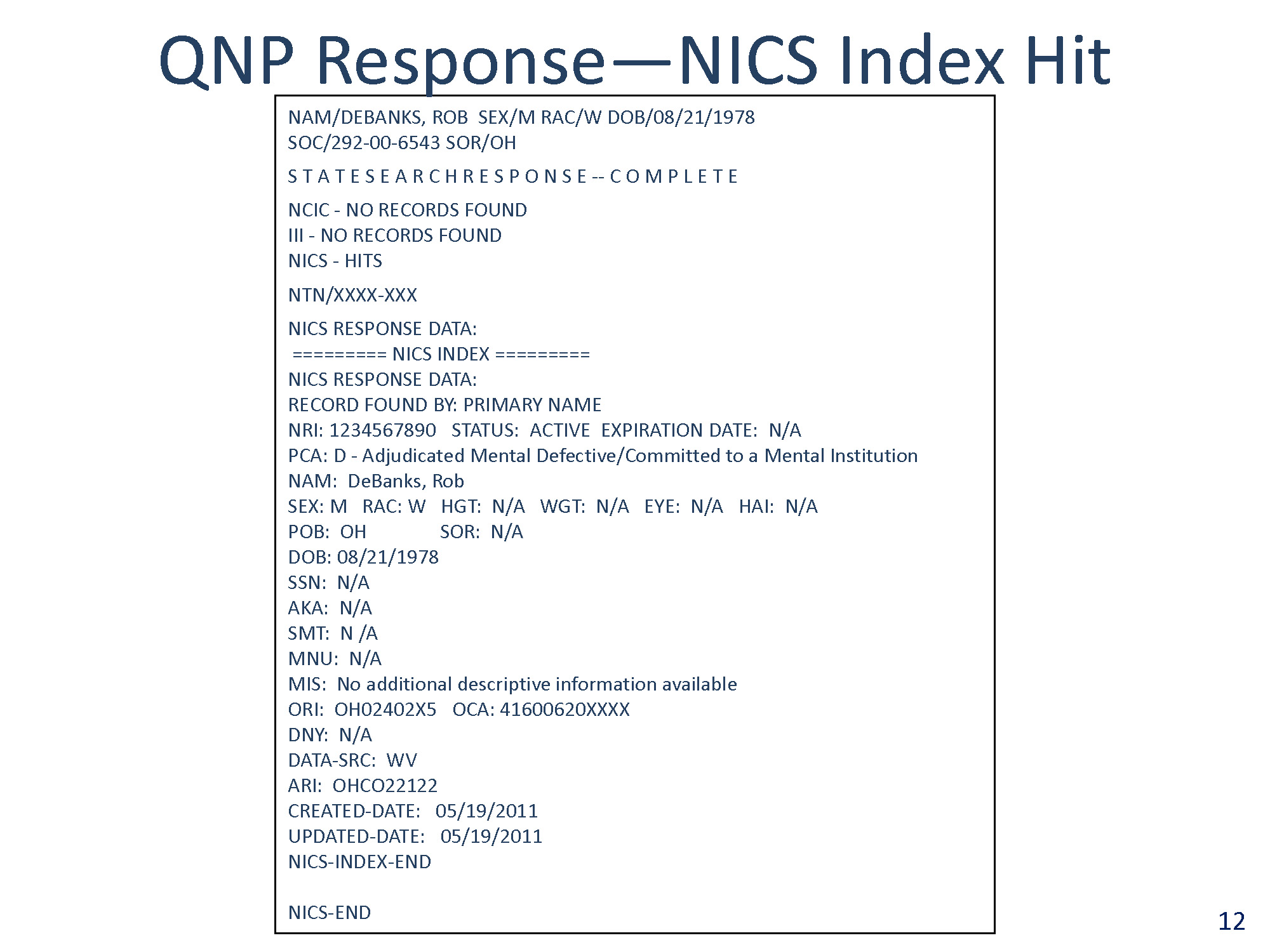 U Les Fbi National Instant Criminal Background Check